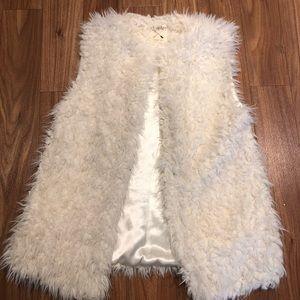 LA Hearts fuzzy vest